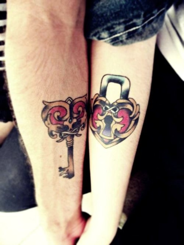 Adorable Couple Tattoo Designs and Ideas (1)