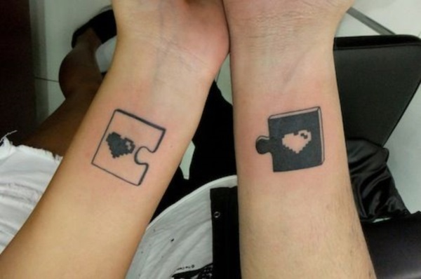 Adorable Couple Tattoo Designs and Ideas (19)