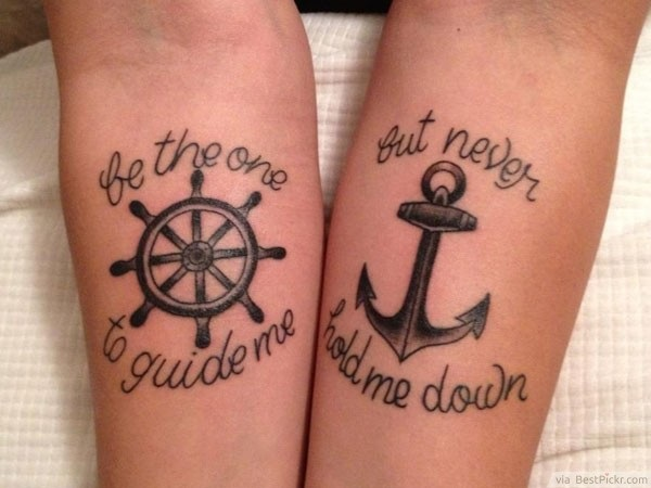 Adorable Couple Tattoo Designs and Ideas (20)