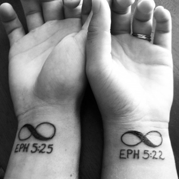Adorable Couple Tattoo Designs and Ideas (23)