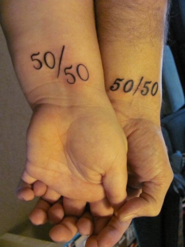 Adorable Couple Tattoo Designs and Ideas (30)