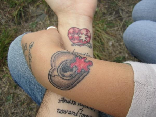 Adorable Couple Tattoo Designs and Ideas (46)