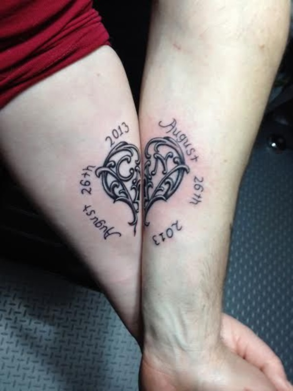 Adorable Couple Tattoo Designs and Ideas (6)