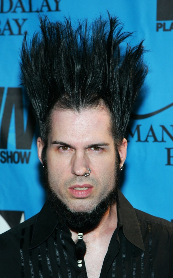 LAS VEGAS - JANUARY 12:  Static-X singer/guitarist Wayne Static arrives at the 25th annual Adult Video News Awards Show at the Mandalay Bay Events Center January 12, 2008 in Las Vegas, Nevada.  (Photo by Ethan Miller/Getty Images)