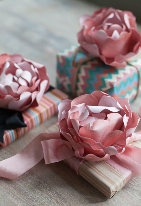 50 creative and useful paper flower ideas for Creative tissue paper ideas