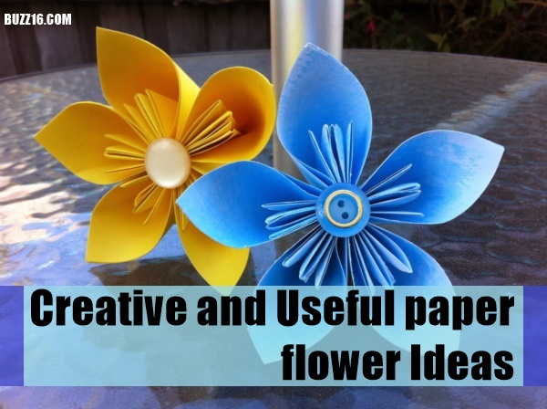 Creative and Useful paper flower Ideas0351