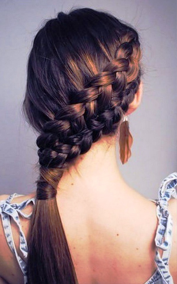 Cute braided hairstyles for long hair (19)