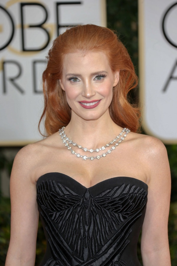 01/12/2014 - Jessica Chastain - 71st Annual Golden Globe Awards - Arrivals - Beverly Hilton Hotel - Beverly Hills, CA, USA - Keywords: Theatrical Performance, California, Movie, Award, Television Show, Golden Globe Awards, Film Industry, Fashion, Arts Culture and Entertainment, Attending, Celebrities, celebrity 71st Golden Globe Awards Orientation: Portrait Face Count: 1 - False - Photo Credit: Andrew Evans  / PR Photos - Contact (1-866-551-7827) - Portrait Face Count: 1