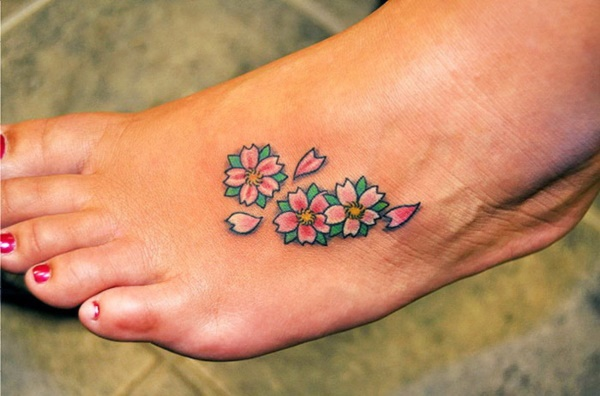 Latest 55 Beautiful Foot Tattoo Designs For Girls0091