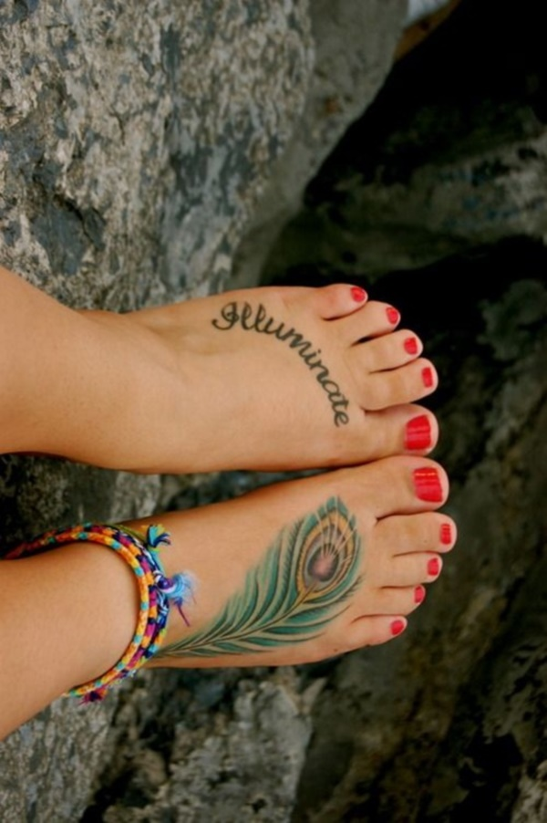 Latest 55 Beautiful Foot Tattoo Designs For Girls0201