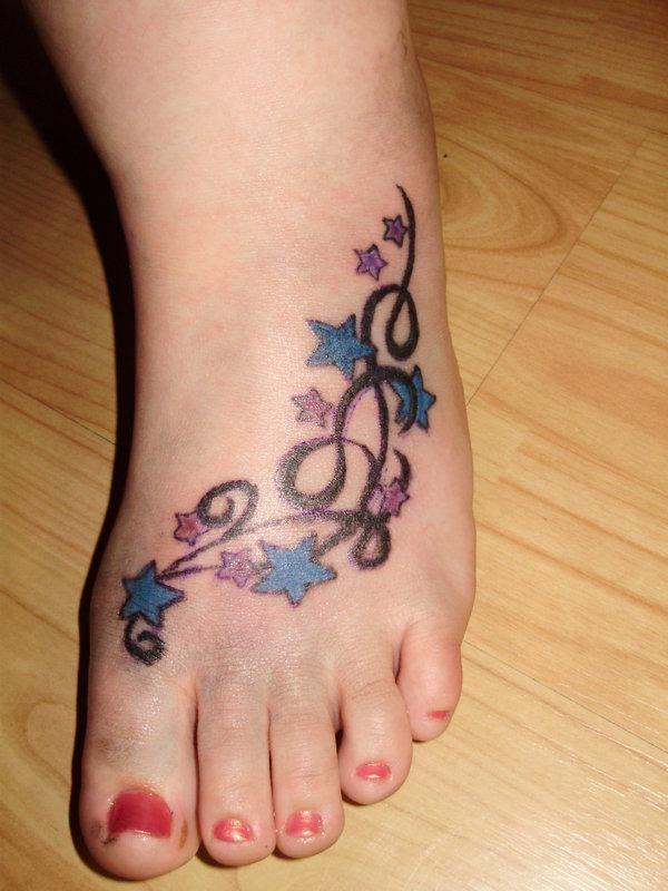 Latest 55 Beautiful Foot Tattoo Designs For Girls0301