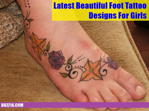 Latest 55 Beautiful Foot Tattoo Designs For Girls0371