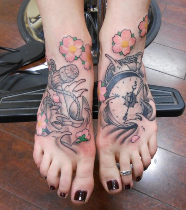 Latest 55 Beautiful Foot Tattoo Designs For Girls0431