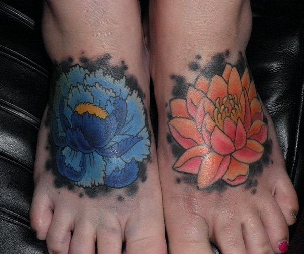 Latest 55 Beautiful Foot Tattoo Designs For Girls0451