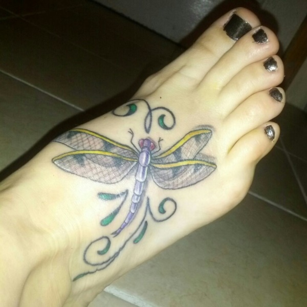 Latest 55 Beautiful Foot Tattoo Designs For Girls0541