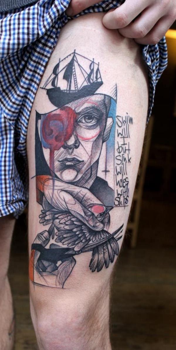 Nerdy Geometric Pattern Tattoo Designs0061