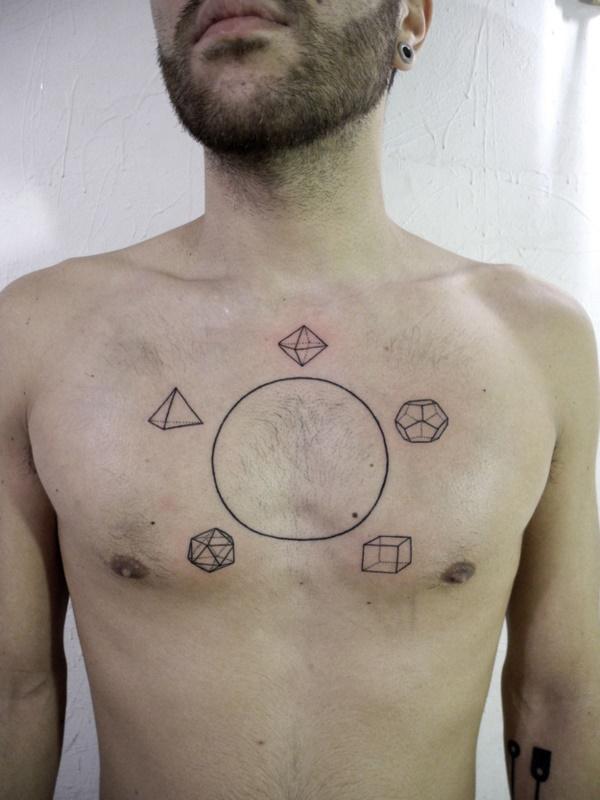 Nerdy Geometric Pattern Tattoo Designs0091