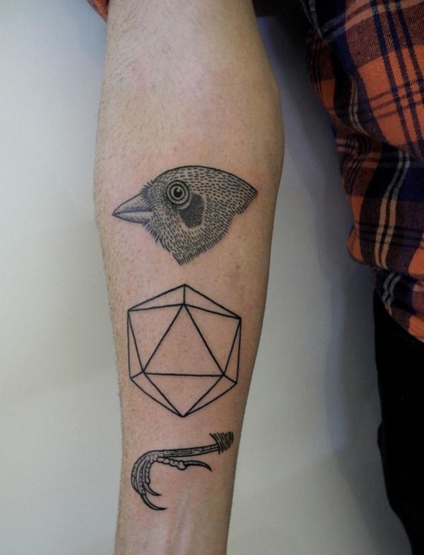 Nerdy Geometric Pattern Tattoo Designs0101