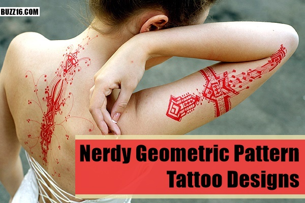 Nerdy Geometric Pattern Tattoo Designs0171