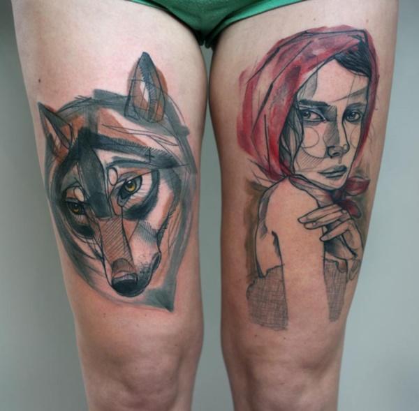 Nerdy Geometric Pattern Tattoo Designs0301