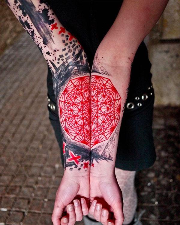 Nerdy Geometric Pattern Tattoo Designs0311