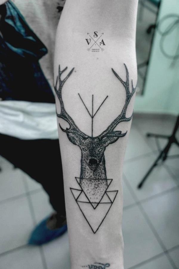 Nerdy Geometric Pattern Tattoo Designs0341