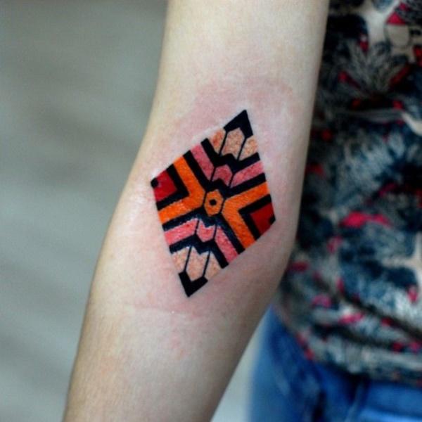 Nerdy Geometric Pattern Tattoo Designs0351