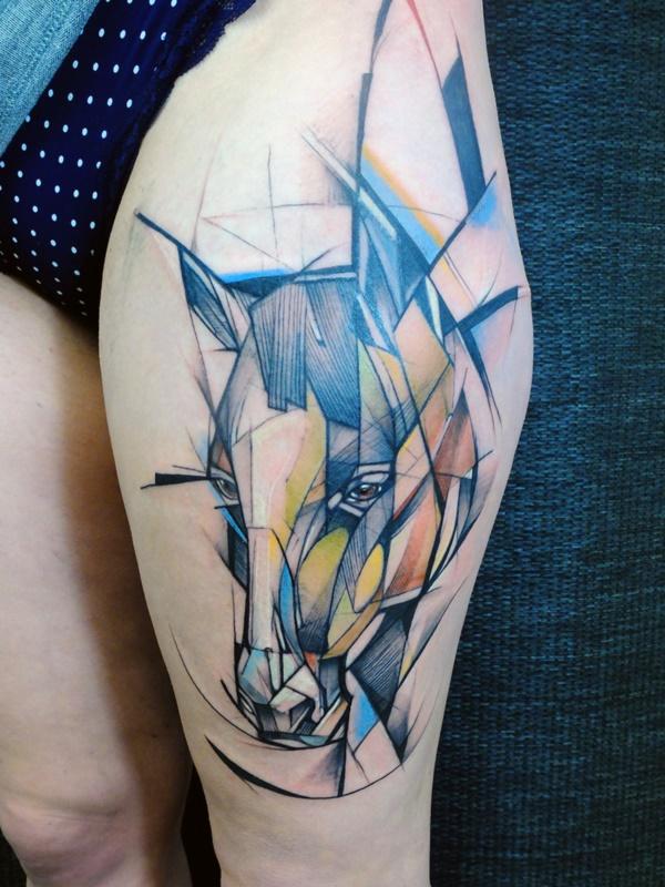 Nerdy Geometric Pattern Tattoo Designs0361
