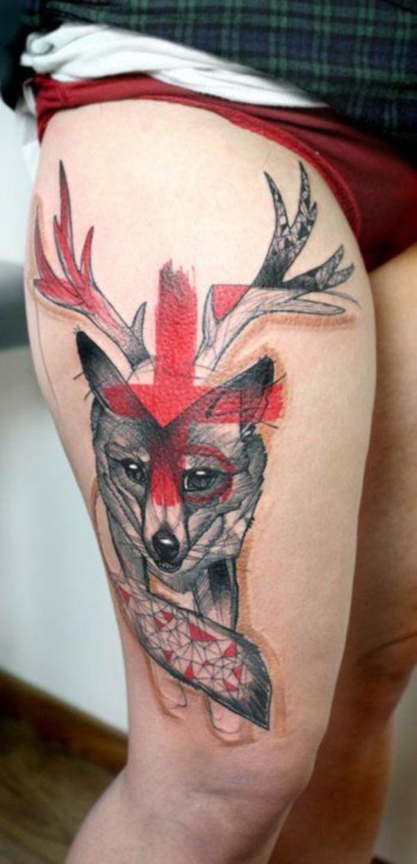 Nerdy Geometric Pattern Tattoo Designs0431
