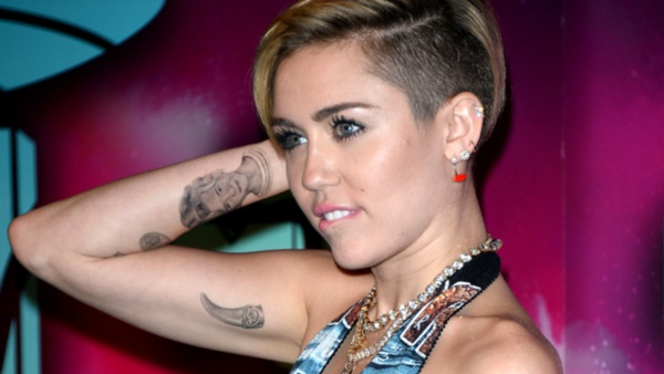 AMSTERDAM, NETHERLANDS - NOVEMBER 10:  Miley Cyrus attends the MTV EMA's 2013 at Ziggo Dome on November 10, 2013 in Amsterdam, Netherlands.  (Photo by Venturelli/WireImage)