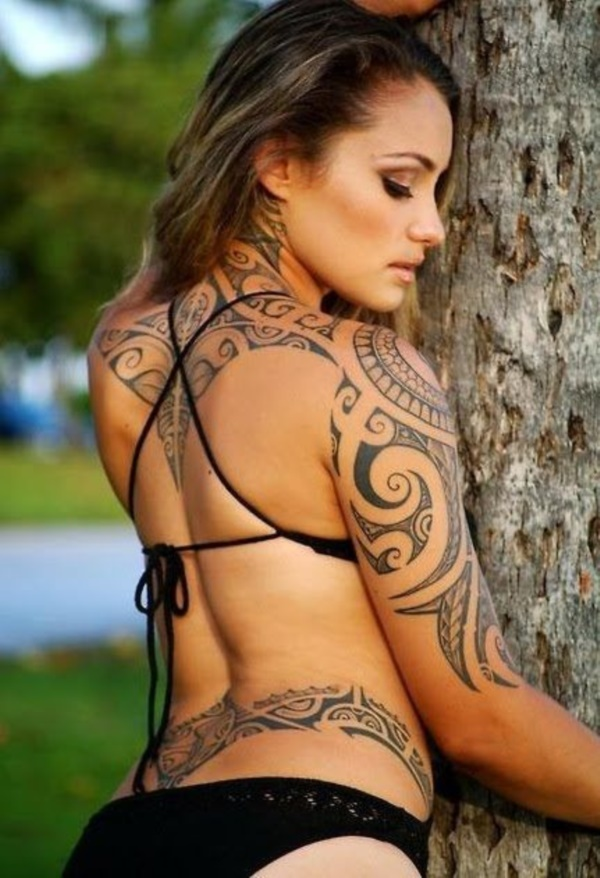 Sexy Hawaiian Tribal Tattoos for Girls0071