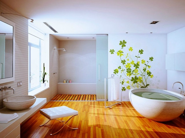 bathroom-with-wooden-floor