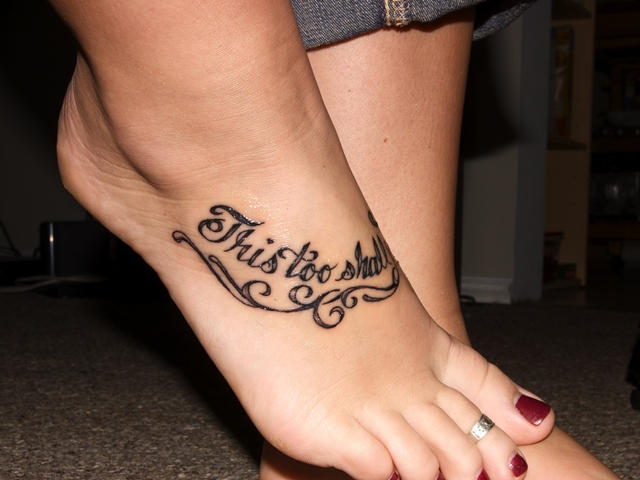 Foot Tattoo Ideas Quotes: 55 Beautiful Foot Tattoo Designs For Girls