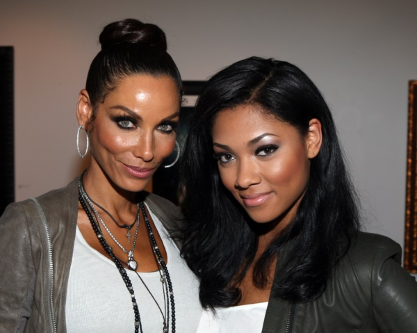"Nicole Murphy and daughter Bria Murphy at Nicole Murphy ""Open Hours"" Clothing Launch as part of VH1 Hollywood Exes reality show taped at WMA Gallery in Culver City, California. (Episode 10 airs Wed August, 20, 2012, on Vh1 and Vn1.com) (Photo by Arnold Turner/Invision/AP)"