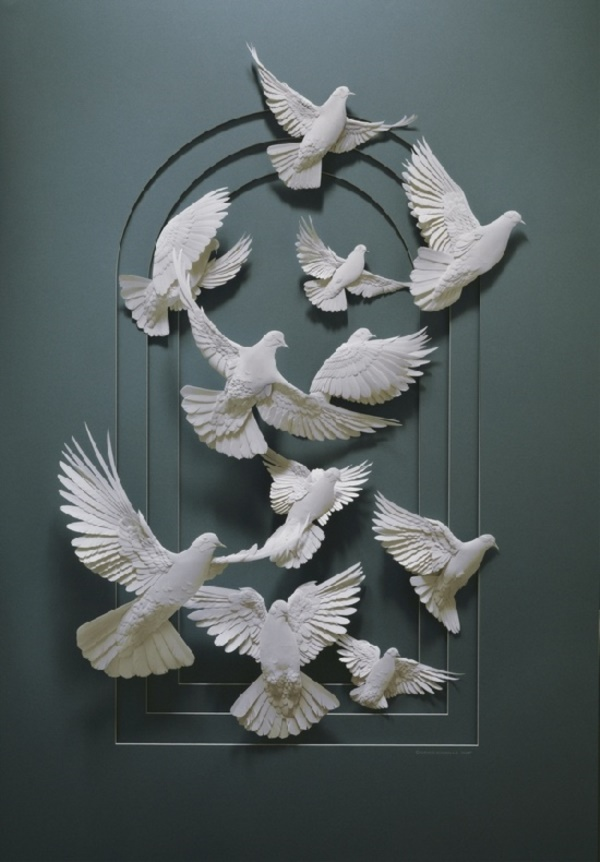 Jaw Dropping Paper sculpture Art Models0321