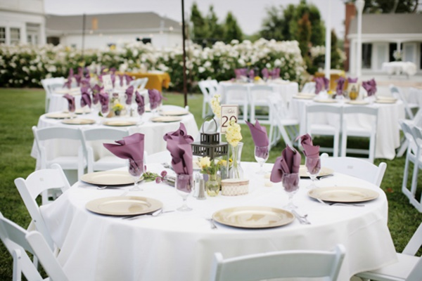 Purple Table Linens