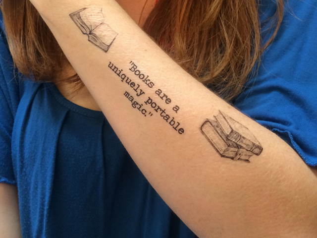 972ba2e751587 50 Attractive Literary Tattoos For Book Lovers