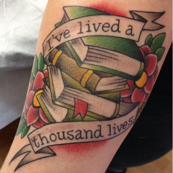 attractive literary book tattoos0001