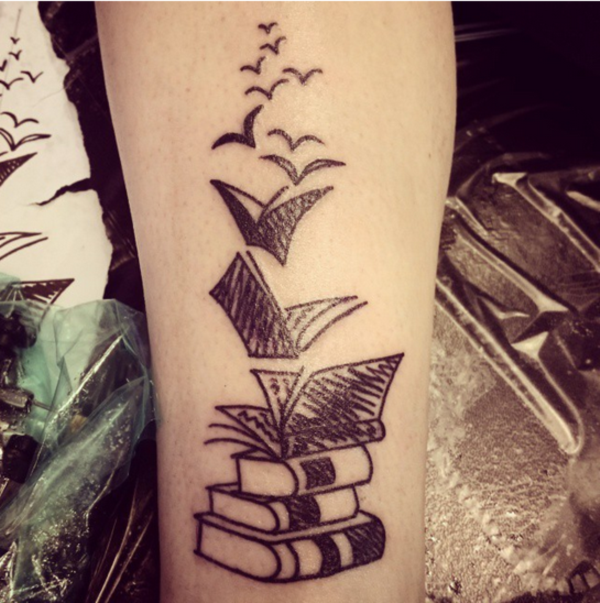 50 attractive literary tattoos for book lovers. Black Bedroom Furniture Sets. Home Design Ideas