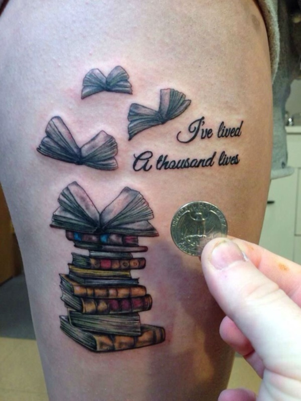 Small Book Tattoo: 50 Attractive Literary Tattoos For Book Lovers