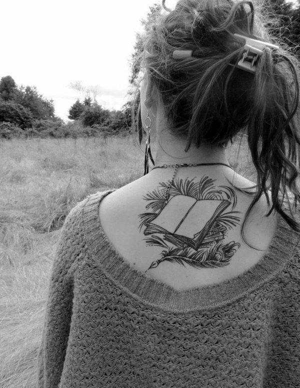 attractive literary book tattoos0041