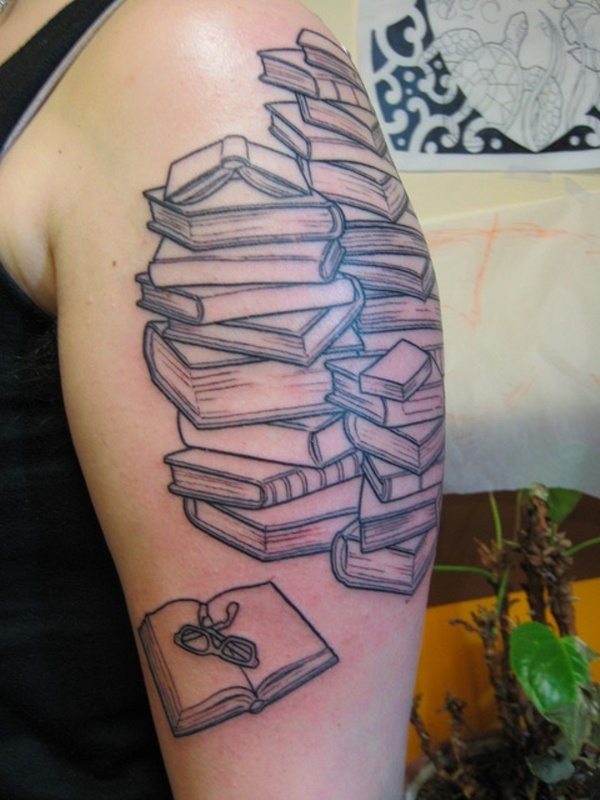 attractive literary book tattoos0071