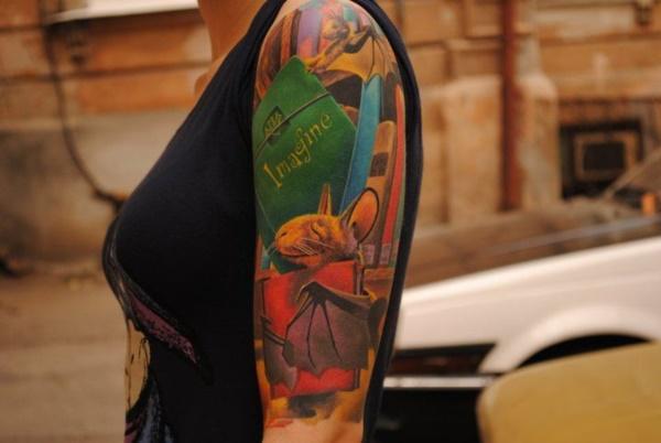 attractive literary book tattoos0141