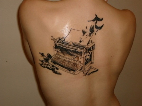 attractive literary book tattoos0181