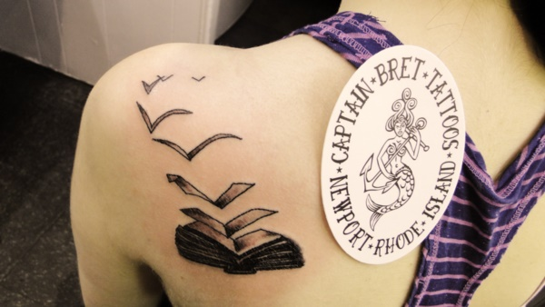 attractive literary book tattoos0201