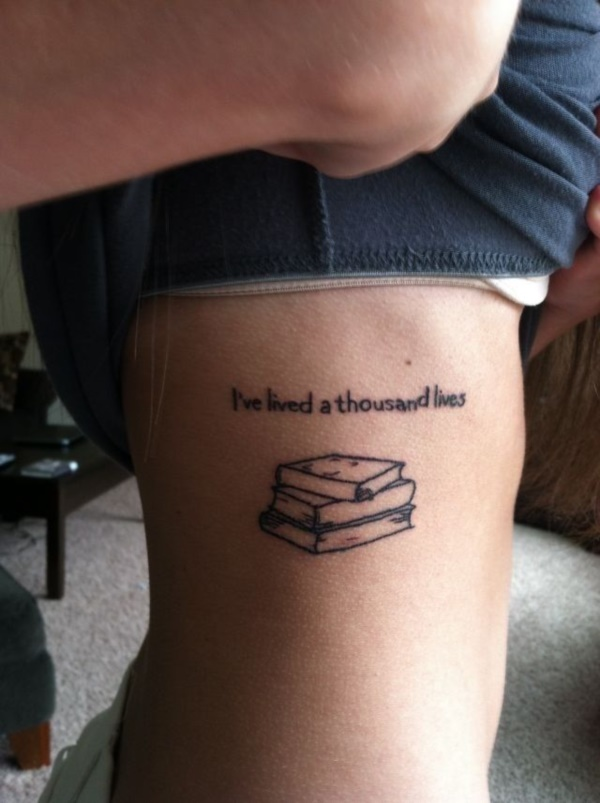 50 attractive literary tattoos for book lovers for Tattoo girl book
