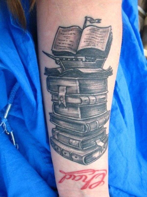 attractive literary book tattoos0241