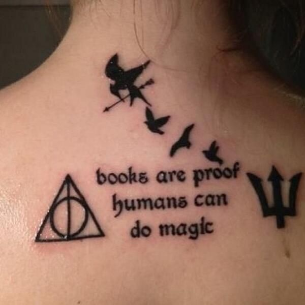 attractive literary book tattoos0251