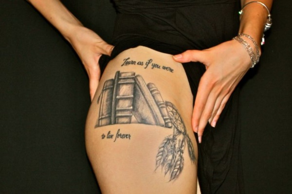 attractive literary book tattoos0261