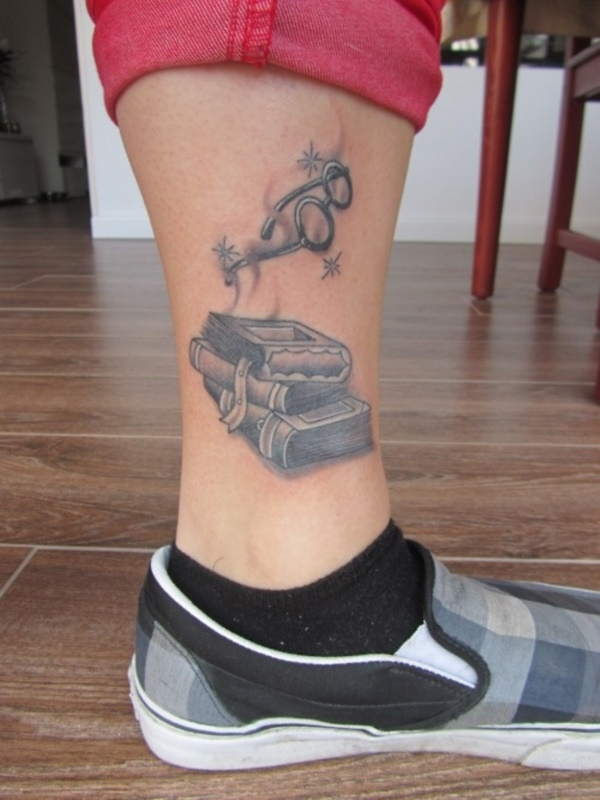 attractive literary book tattoos0281